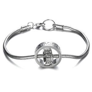 18K♠️+ Swarovski®Diamonds Heart w/Circle Bracelet
